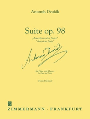 DVORAK - Suite op. 98 American Suite - Flöte Klavier - Sheet Music - di-arezzo.co.uk