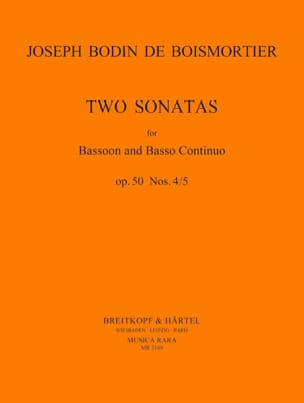 BOISMORTIER - 2 Sonatas op. 50 No. 4-5 - Bassoon and Bc - Sheet Music - di-arezzo.co.uk