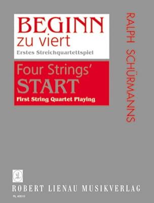 Beginn Zu Viert - 2 Violons Alto Cello Partition laflutedepan