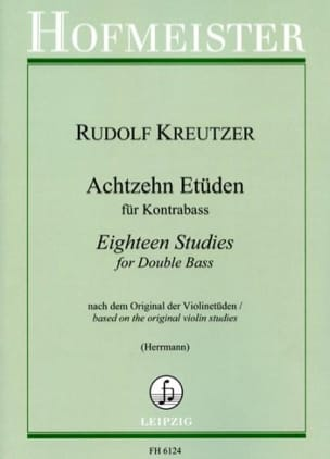 Rodolphe Kreutzer - 18 Etüden - Kontrabass - Sheet Music - di-arezzo.co.uk