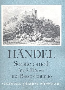 Sonate e-moll - 2 Flûtes et Bc HAENDEL Partition Trios - laflutedepan