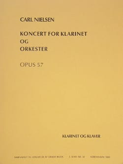 Carl Nielsen - Clarinet Concerto Op. 57 - Clarinet / Piano - Sheet Music - di-arezzo.co.uk