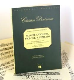 Francesco Saverio Geminiani - Sonate a violino, violone e cembalo op. 1 - Partition - di-arezzo.fr