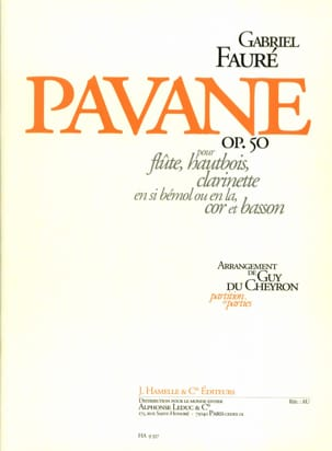 Pavane Opus 50 FAURÉ Partition Quintettes - laflutedepan