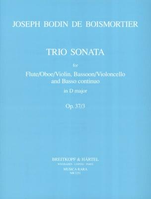 Joseph Bodin de Boismortier - Trio Sonata D major op. 37 n° 3 –Flute Bassoon Bc - Partition - di-arezzo.fr