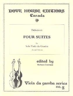 DuBuisson - 4 Suites - Viola da Gamba - Sheet Music - di-arezzo.com