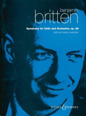 Benjamin Britten - Symphony for cello and orchestra - Cello piano - Partition - di-arezzo.fr