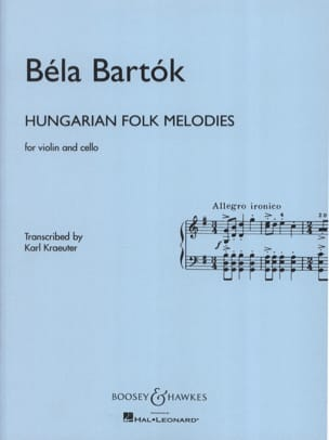 Hungarian Folk Melodies - Violin cello BARTOK Partition laflutedepan