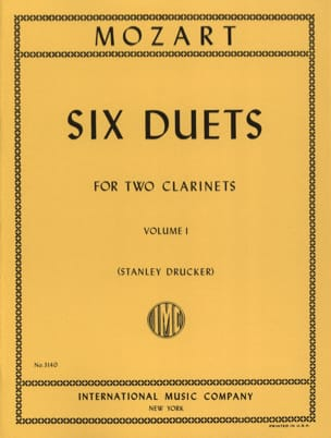 Wolfgang Amadeus Mozart - 6 Duets - Volume 1 – 2 Clarinets - Partition - di-arezzo.fr