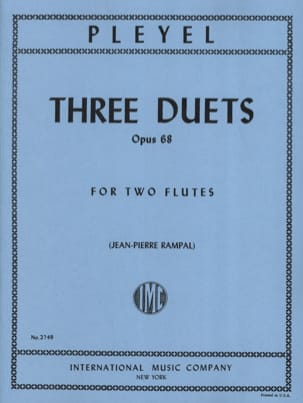 Ignace Pleyel - 3 Duets op. 68 - 2 Flutes - Sheet Music - di-arezzo.co.uk