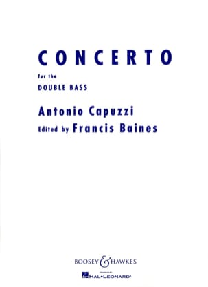Giuseppe Antonio Capuzzi - Concerto for Double basse - Partition - di-arezzo.fr
