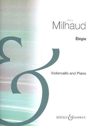 Elégie - Darius Milhaud - Partition - Violoncelle - laflutedepan.com