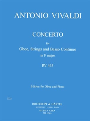 Antonio Vivaldi - Concerto in F major RV 455 – Oboe piano - Partition - di-arezzo.fr