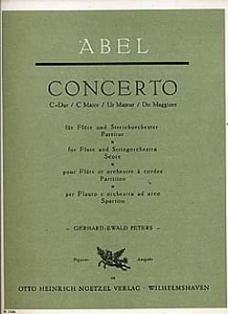 Carl Friedrich Abel - Concerto for flute and string orchestra - Sheet Music - di-arezzo.co.uk