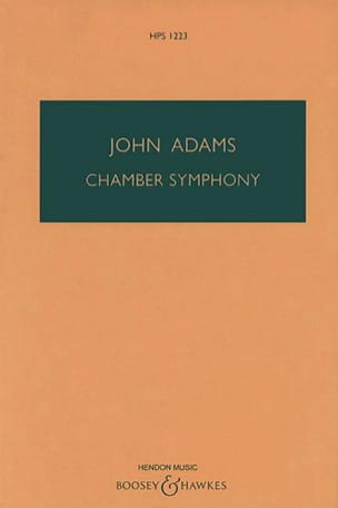Chamber Symphony - Conducteur John Adams Partition laflutedepan
