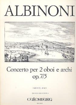 Tomaso Albinoni - Concerto for 2 oboi e archi op. 7/5 - Driver - Sheet Music - di-arezzo.co.uk