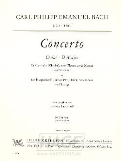 Carl Philipp Emanuel Bach - Concerto D-Dur – Cembalo - Partition - di-arezzo.fr