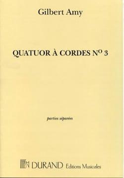 Gilbert Amy - Quatuor Cordes N° 3 –parties - Partition - di-arezzo.fr