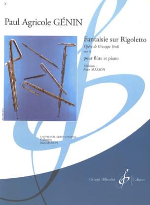 Verdi Giuseppe / Génin Paul Agricole - Fantaisie sur Rigoletto de Verdi op. 19 - Partition - di-arezzo.fr