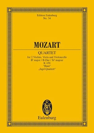 MOZART - Streich-Quartett B-Dur Kv 458 - Sheet Music - di-arezzo.co.uk