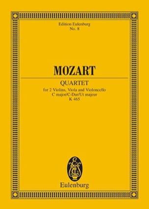 MOZART - Quatuor en Ut Majeur K 465 Dissonances - Conducteur - Partition - di-arezzo.fr