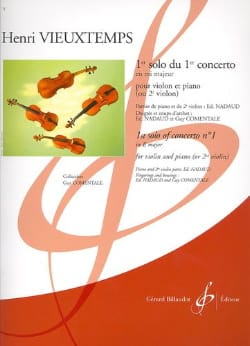 Vieuxtemps Henri / Nadaud Edouard - 1st solo of the Concerto n ° 1 op. 10 - Sheet Music - di-arezzo.co.uk