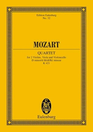 MOZART - Streichquartett D-Moll Kv 421 - Driver - Sheet Music - di-arezzo.co.uk