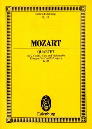 Streich-Quartett Es-Dur Kv 428 - MOZART - Partition - laflutedepan.com