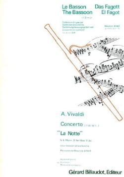 Antonio Vivaldi - Concerto F. 8 n° 1 La Notte pour basson – Conducteur - Partition - di-arezzo.fr