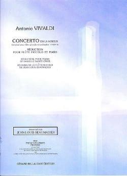 Antonio Vivaldi - Concerto en la mineur F. 6 n° 9 – Piccolo piano - Partition - di-arezzo.fr