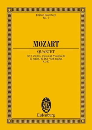 MOZART - Streich-Quartett G-Dur KV 387 - Partitur - Partition - di-arezzo.fr