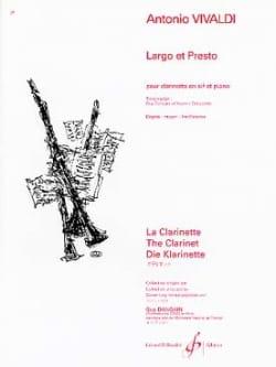 Largo et Presto VIVALDI Partition Clarinette - laflutedepan