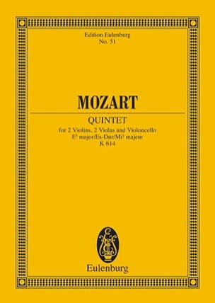 MOZART - Streich-Quintett Es-Dur KV 614 Es-Dur - Partition - di-arezzo.fr