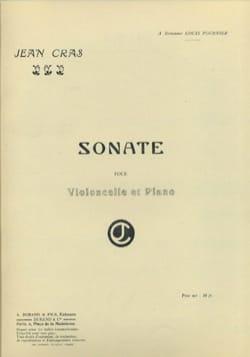 Sonate Jean Cras Partition Violoncelle - laflutedepan