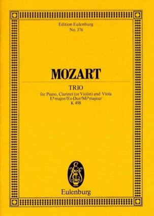 Trio Es-Dur KV 498 MOZART Partition Petit format - laflutedepan