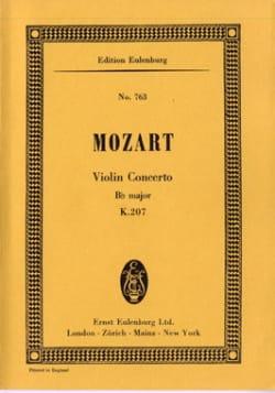 MOZART - Violin-Konzert B-Dur KV 207 - Partitur - Partition - di-arezzo.fr
