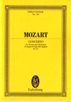 MOZART - Violin-Konzert D-Dur KV 211 - Partitur - Sheet Music - di-arezzo.co.uk