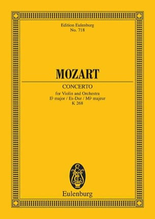 Wolfgang Amadeus Mozart - Violin-Konzert Es-Dur (KV 268) Es-Dur - Partition - di-arezzo.fr