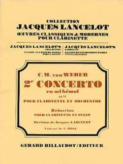 Carl Maria von Weber - Clarinet Concerto No. 2 in Eb major op. 74 - Sheet Music - di-arezzo.com