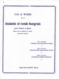 Carl Maria von Weber - Andante and Hungarian Rondo op. 35 Dherin - Sheet Music - di-arezzo.com