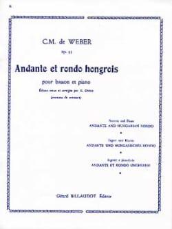 Carl Maria von Weber - Andante et Rondo hongrois op. 35 Dhérin - Partition - di-arezzo.fr