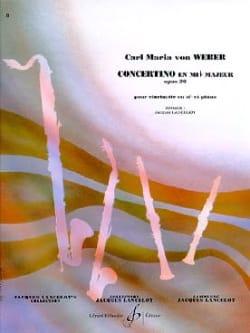 Carl Maria von Weber - Concertino en Mib Op. 26 - Partition - di-arezzo.fr
