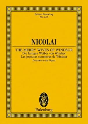 Otto Nicolai - Die lustigen Weiber von Windsor - Partition - di-arezzo.fr