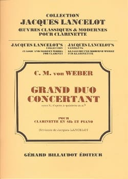 Carl Maria von Weber - Grand duo concertant op. 34 - Partition - di-arezzo.fr