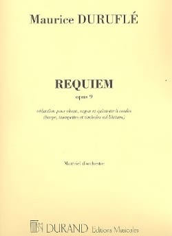 Maurice Duruflé - Requiem Party Orchestra Reduit - Sheet Music - di-arezzo.com