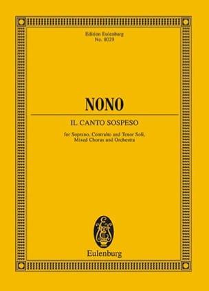 Il canto sospeso - Luigi Nono - Partition - laflutedepan.com