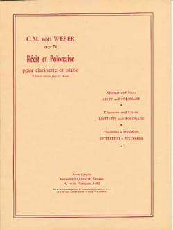 Carl-Maria Von Weber - Récit et Polonaise op. 74 - Partition - di-arezzo.fr