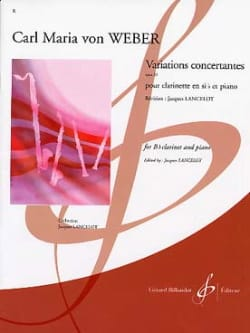 Carl Maria von Weber - Concerted Variations op. 33 - Sheet Music - di-arezzo.co.uk