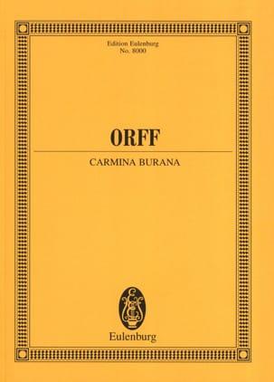 Carmina Burana - Partitur ORFF Partition Grand format - laflutedepan