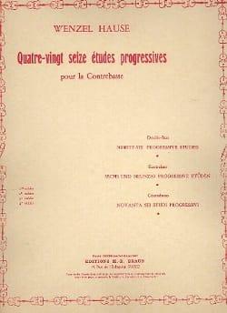 Hause Wenzel - 96 Etudes progressives, Volume 1 - Contrebasse - Partition - di-arezzo.fr
